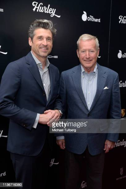 """Executive Producer Patrick Dempsey and former race car driver Hurley Haywood attend the Los Angeles premiere of """"Hurley"""" presented by The Orchard at..."""