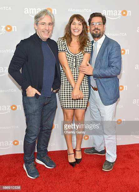 Executive producer Paul Weitz actress Lola Kirke and executive producer Roman Coppola attend the Amazon 2016 Summer TCA Press Tour at The Beverly...