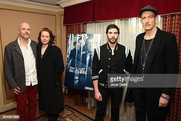 Executive producer Peter Carlton actors Samantha Morton Tahar Rahim and executive producer/ director Johan Renck attend the SundanceTV Winter TCA...