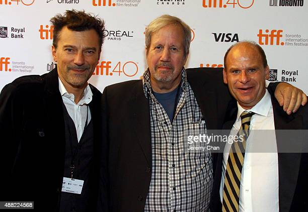 Executive producer Peter Gentile writer/director Alan Zweig and film subject Steve Fonyo attend the HURT photo call during the 2015 Toronto...