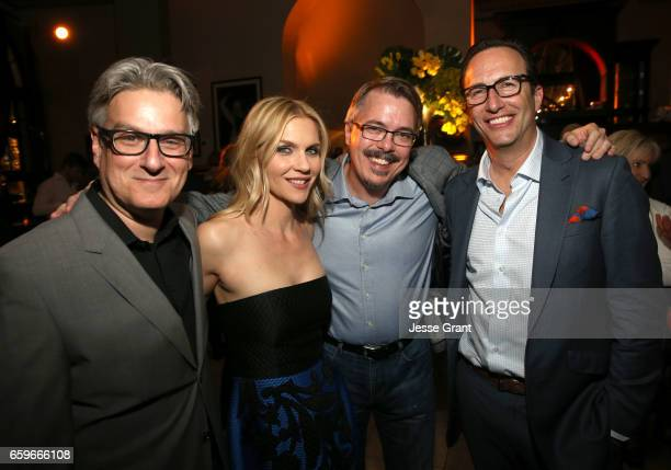 Executive Producer Peter Gould actor Rhea Seehorn executive producer Vince Gilligan and AMC Networks President and General Manager Charlie Collier...