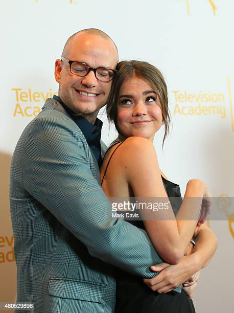 Executive producer Peter Paige and actress Maia Mitchell attend the Television Academy Presents An Evening With 'The Fosters' held at the El Portal...