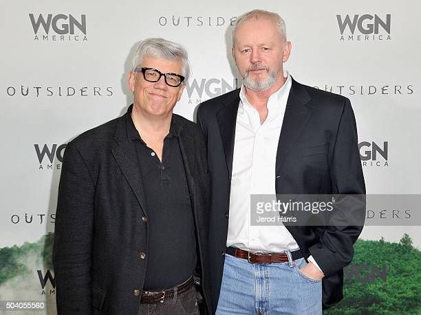 Executive producer Peter Tolan and actor David Morse attend the WGN America Winter 2016 TCA Press Tour for Outsiders at The Langham Huntington Hotel...