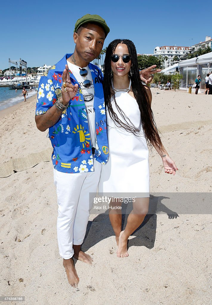 Executive producer Pharrell Williams and actress Zoe Kravitz attend a photocall for 'Dope' during the 68th annual Cannes Film Festival on May 22, 2015 in Cannes, France.