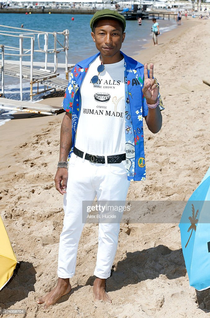 Executive producer Pharrell Williams attends a photocall for 'Dope' during the 68th annual Cannes Film Festival on May 22, 2015 in Cannes, France.