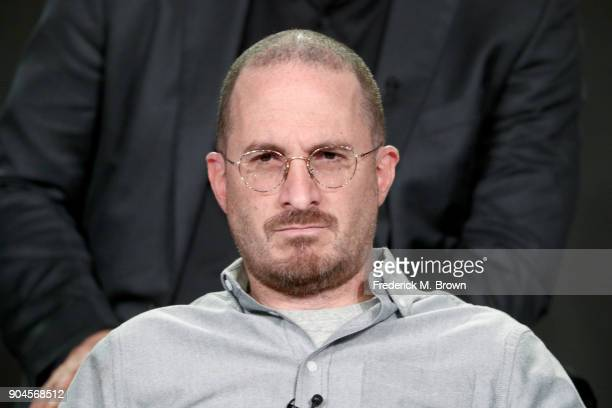 Executive producer Protozoa Pictures Darren Aronofsky of 'One Strange Rock' speaks onstage during the National Geographic Channels portion of the...