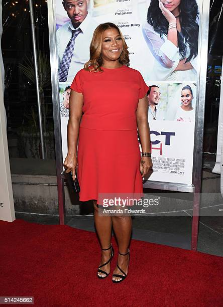 Executive producer Queen Latifah arrives at the premiere of Lionsgate's The Perfect Match at ArcLight Hollywood on March 7 2016 in Hollywood...