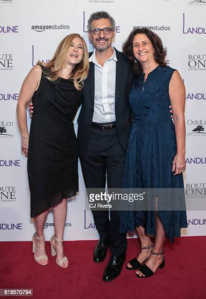 Executive producer Rachel Shane Actor John Turturro and producer Gigi Pritzker attend the New York premiere of 'Landline' at The Metrograph on July...