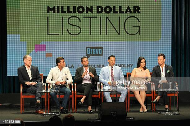 Executive producer Randy Barbato TV personalities Luis D Ortiz Josh Flagg Josh Altman Samantha DeBianchi and Chris Leavitt speak onstage at the...