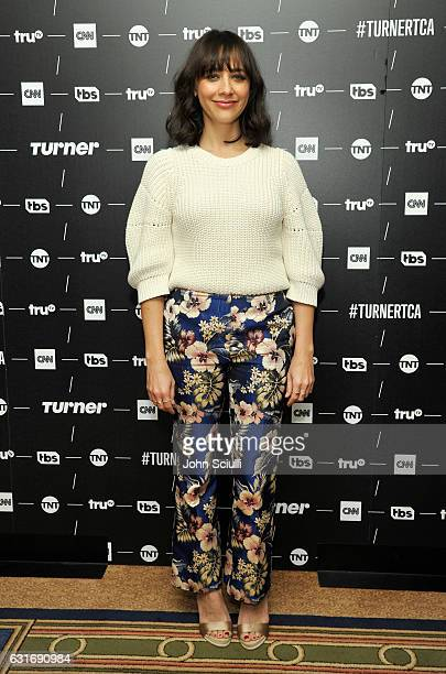 Executive producer Rashida Jones of 'Claws' poses in the green room during the TCA Turner Winter Press Tour 2017 Presentation at The Langham Resort...