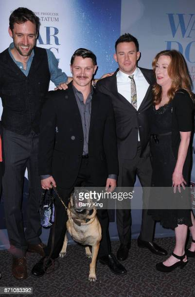 Executive producer Reid Carolin Film Subjects Trent McDonald and dog Layka producer Channing Tatum and director Deborah Scranton attend HBO and Army...