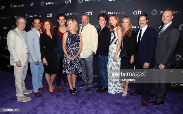 Executive producer Rene Balcer actors Carlos Gomez Lolita Davidovich Miles Gaston Villanueva and Edie Falco executive producer Dick Wolf actors Gus...