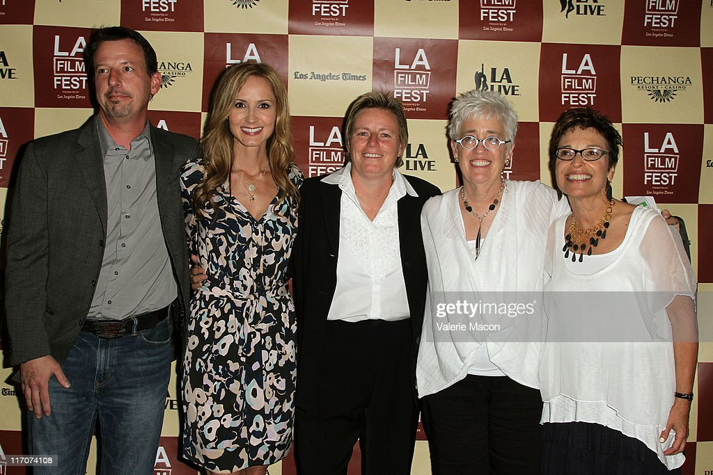 Executive Producer Richard Bever, singer/documentary subject Chely Wright, Executive Producer Rhonda Eiffe and Filmmakers Bobbie Birleff and Beverly Kopf attend the 'Wish Me Away' Q & A during the 2011 Los Angeles Film Festival held at Regal Cinemas L.A. LIVE on June 20, 2011 in Los Angeles, California.