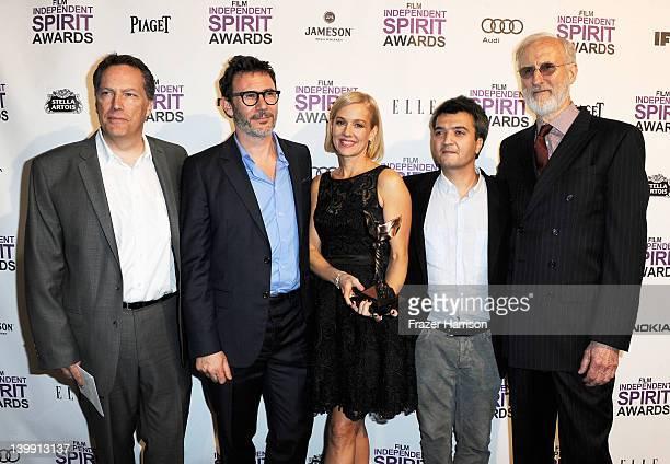 Executive Producer Richard Middleton, Director Michel Hazanavicius, actress Penelope Ann Miller, Producer Thomas Langmann and actor James Cromwell...