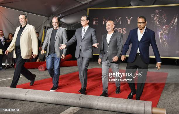 Executive Producer Ricky Kirshner Executive Producer Glenn Weiss host Stephen Colbert Television Academy Chairman/CEO Hayma Washington roll the red...