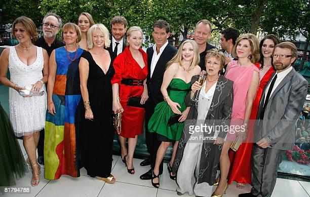 Executive producer Rita Wilson, guest, director Phyllida Lloyd, guest, producer Judy Craymer, actor Colin Firth, actress Meryl Streep, actor Pierce...
