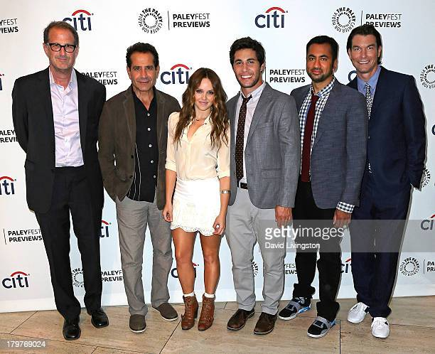 Executive producer Rob Greenberg and actors Tony Shalhoub Rebecca Breeds Christopher Nicholas Smith Kal Penn and Jerry O'Connell attend...
