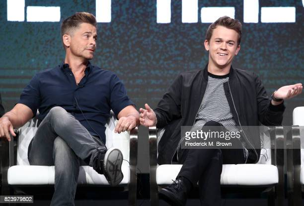 Executive producer Rob Lowe and John Owen Lowe of 'The Lowe Files speak onstage during the AE portion of the 2017 Summer Television Critics...