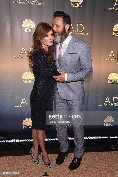 Executive Producer Roma Downey and Executive Producer Mark Burnett attend the 'AD The Bible Continues' New York Premiere Reception at The Highline...