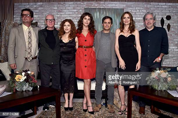 Executive producer Roman Coppola actors Malcolm McDowell Bernadette Peters actors Lola Kirke Gael Garcia Bernal Saffron Burrows and executive...