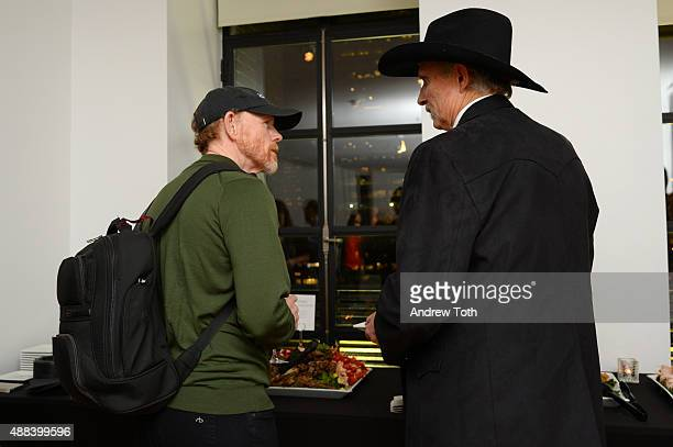 Executive Producer Ron Howard and Author Sam Brower attend the private screening and QA for Showtime Documentary Films Prophet's Prey at Bryant Park...