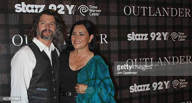 """Executive Producer Ronald Moore and author Diana Gabaldon attend the """"Outlander"""" series screening at 92nd Street Y on July 28, 2014 in New York City."""