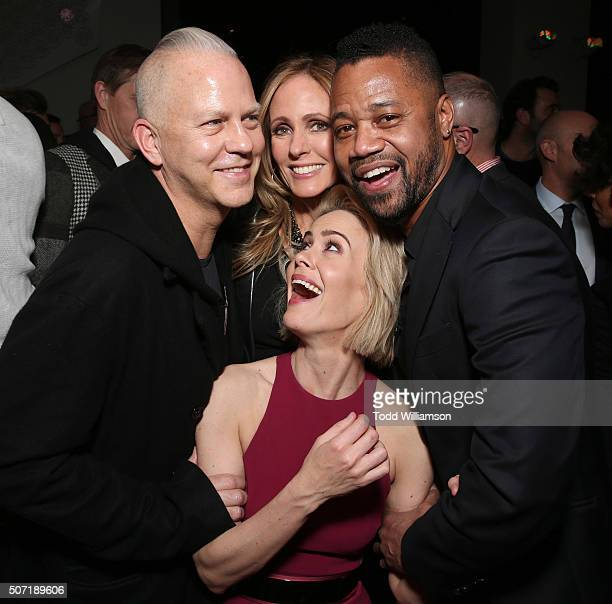 Executive Producer Ryan Murphy CoChairman/CEO Fox Television Group Dana Walden Sarah Paulson and Cuba Gooding Jr attend the after party for the...