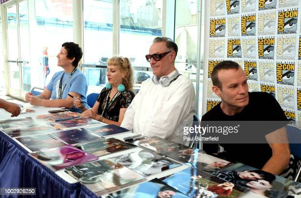 Executive producer Sabrina S Sutherland actors Kimmy Robertson Harry Goaz and James Marshall attend 'Twin Peaks' autograph signings and fan events...