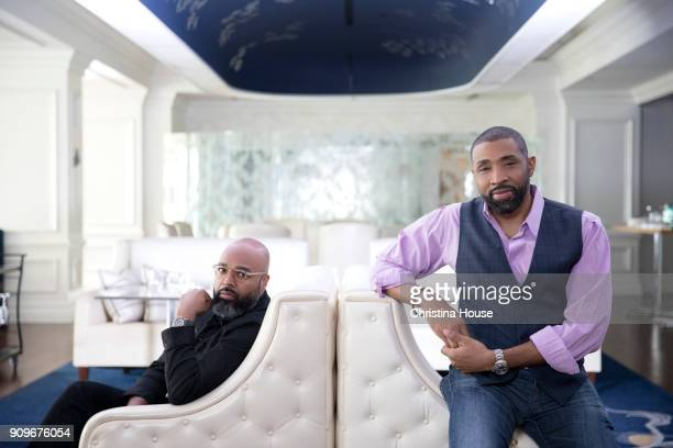 Executive producer Salim Akil and actor Cress Williams from 'Black Lightning' are photographed for Los Angeles Times on January 7 2018 in Pasadena...