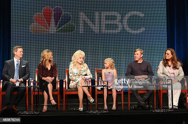 Executive producer Sam Haskell actress Jennifer Nettles executive producer Dolly Parton actors Alyvia Alyn Lind Ricky Schroder and executive producer...