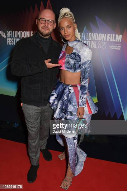 """Executive Producer Sam Pressman and Kota Eberhardt attend the UK Premiere of """"She Will"""" during the 65th BFI London Film Festival at the The Curzon..."""