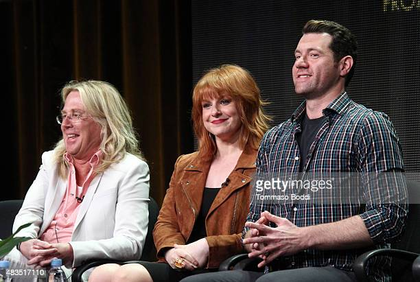 Executive Producer Scott King actress and Executive Producer Julie Klausner and actor Billy Eichner speak onstage during the Difficult People panel...