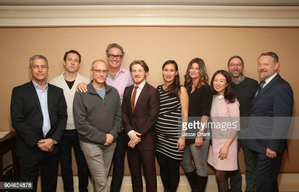 Executive producer Scott Lambert actor Tobias Menzies executive producers David W Zucker and Guymon Casady actor Adam Nagaitis actress Nive Nielsen...