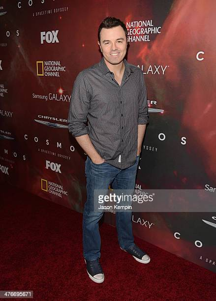 Executive Producer Seth MacFarlane attends the premiere of Fox's Cosmos A SpaceTime Odyssey at The Greek Theatre on March 4 2014 in Los Angeles...