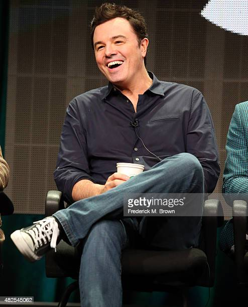 Executive producer Seth MacFarlane speaks onstage during the 'Blunt Talk' panel discussion at the STARZ portion of the 2015 Summer TCA Tour at The...