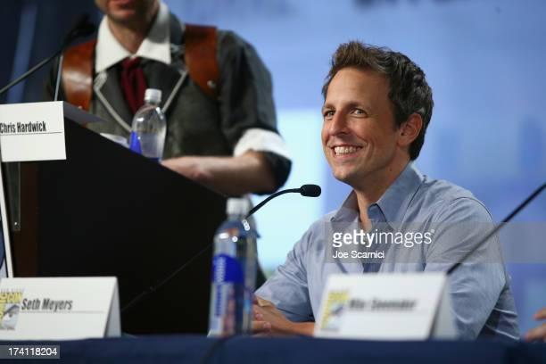 Executive producer Seth Meyers speaks at The Awesomes ComicCon panel at Hilton Bayfront on July 20 2013 in San Diego California