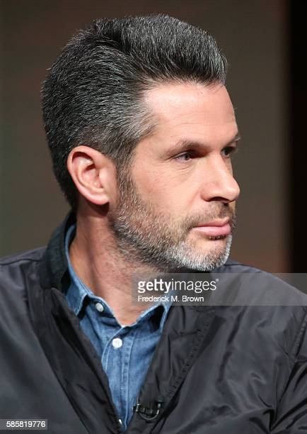 Executive producer Simon Kinberg speaks onstage at the 'Designated Survivor' panel discussion during the Disney ABC Television Group portion of the...