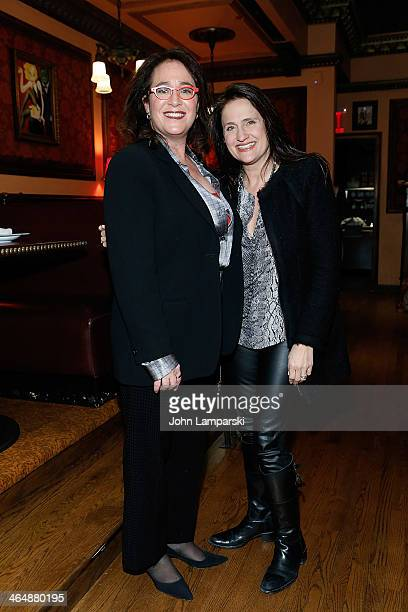 Executive Producer Simone Genatt Haft and Melanie Roy Friedman attend Siddhartha The Musical at 54 Below on January 23 2014 in New York City