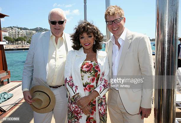 "Executive Producer, Sir Tim Rice, actress Joan Collins and director Roger Goldby attend ""The Time of Their Lives"" photocall at the 67th Annual Cannes..."