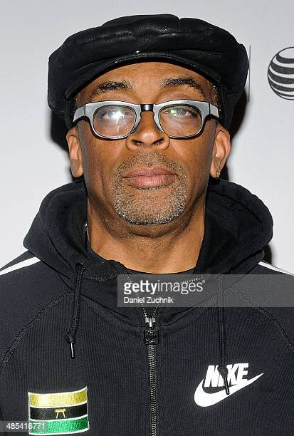 Executive Producer Spike Lee attends the Manos Sucias premiere during the 2014 Tribeca Film Festival at Chelsea Bow Tie Cinemas on April 17 2014 in...