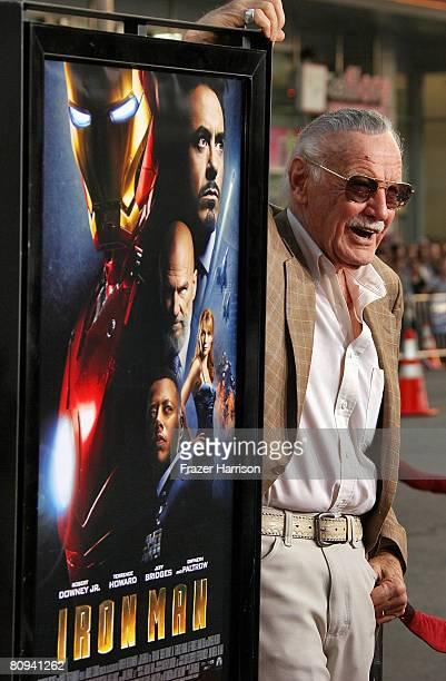 "Executive producer Stan Lee arrives at the premiere of Paramount's ""Iron Man"" held at Grauman's Chinese Theatre on April 30, 2008 in Hollywood,..."