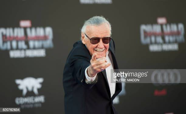 Executive producer Stan Lee attends the Disney Premiere of Captain America Civil War at El Capitan Theater in Hollywood California on April 12 2016
