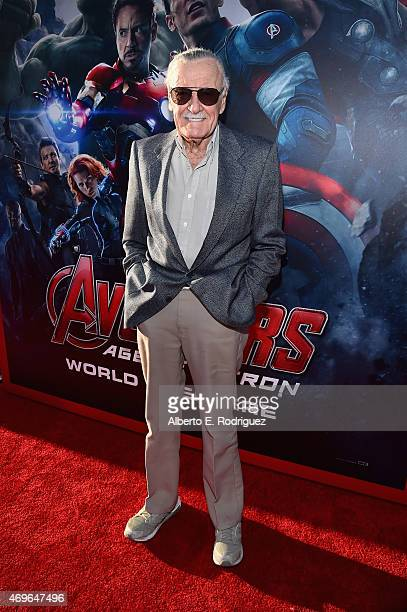 executive producer Stan Lee attends the world premiere of Marvel's Avengers Age Of Ultron at the Dolby Theatre on April 13 2015 in Hollywood...