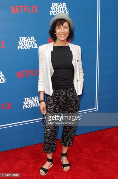 Executive producer Stephanie Allain attends the premiere of Netflix's 'Dear White People' at Downtown Independent on April 27, 2017 in Los Angeles,...