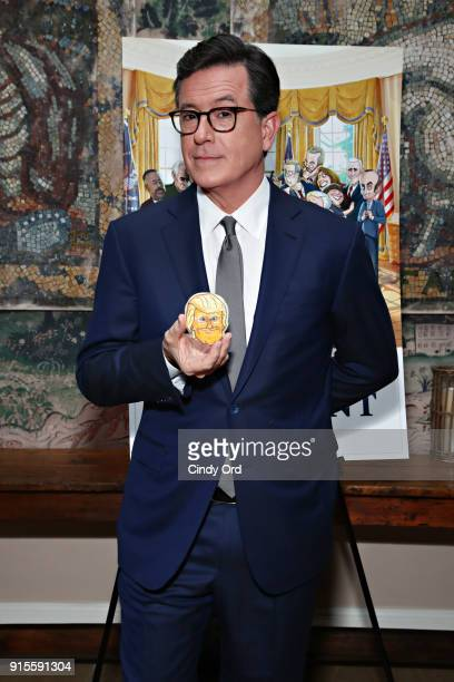 Executive Producer Stephen Colbert attends as Stephen Colbert Chris Licht and RJ Fried host an exclusive screening of OUR CARTOON PRESIDENT on...