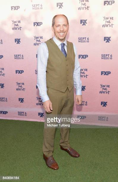 Executive Producer Stephen Falk attends the premiere of Season 4 of FXX's You're The Worst at Museum of Ice Cream LA on August 29 2017 in Los Angeles...