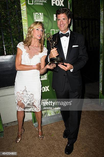 Executive producer Steve Levitan and his wife Krista Levitan arrive at the FOX 20th Century FOX Television FX Networks and National Geographic...
