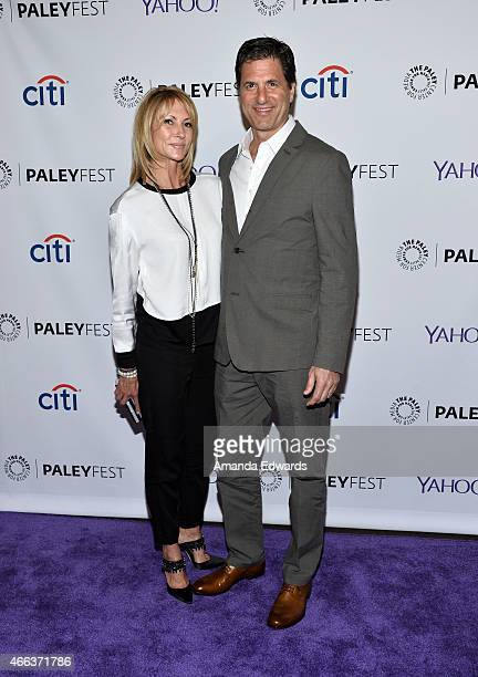Executive producer Steven Levitan and his wife Krista Levitan arrive at The Paley Center For Media's 32nd Annual PALEYFEST LA Modern Family event at...