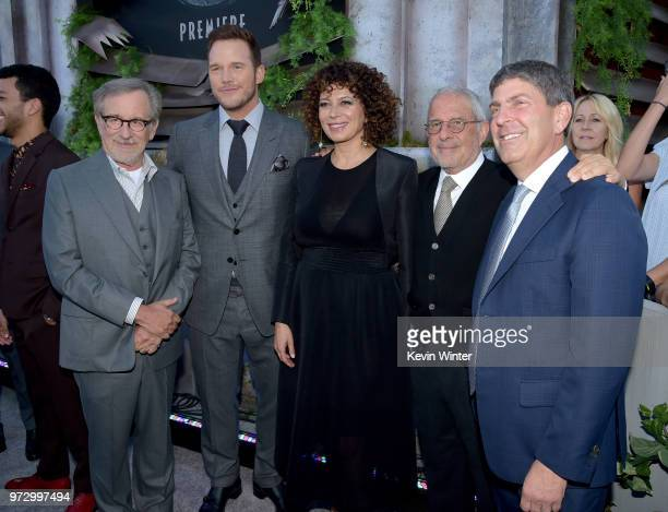 Executive producer Steven Spielberg actor Chris Pratt Donna Langley Chairman Universal Pictures Ron Meyer Vice Chairman NBCUniversal and Jeff Shell...