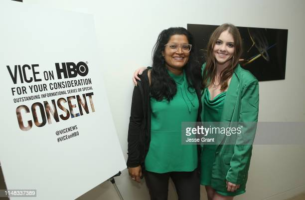 Executive producer Subrata De and Lauren Bobek attend the VICE on HBO Emmy FYC Event on May 10 2019 in Beverly Hills California
